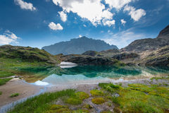Small high mountain lake Stock Photography