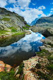 Small high mountain lake Royalty Free Stock Images