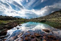 Small high mountain lake Royalty Free Stock Photography