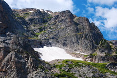 Small High Mountain Snowfield Royalty Free Stock Images