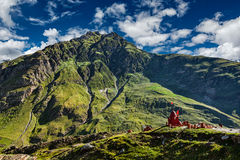 Small Hindu shrine in Himalayas, India Stock Images