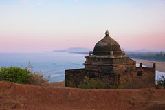 Small Hindu temple on the mountain near the sea Stock Photos