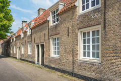 Small historic houses in an old Dutch village Royalty Free Stock Photography