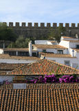 Small Historical European town Obidos Royalty Free Stock Photos