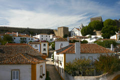 Small Historical European town Obidos Stock Photos