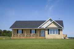 Small Home. A small family home with large lawn Stock Photo