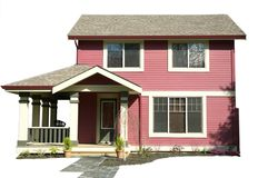 Small Home. Cut-out of a small, newly renovated home Royalty Free Stock Images
