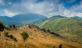 Small home in the hills Royalty Free Stock Photos