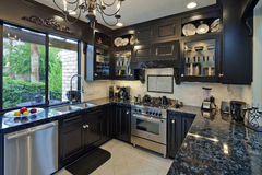 Small home luxury kitchen Royalty Free Stock Images