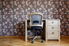 Small home office. In brownish tones Royalty Free Stock Photography