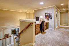 Small home office in the hallway with carpet floor Royalty Free Stock Image