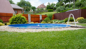 Small home swimming pool Royalty Free Stock Photo
