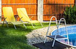 Small home swimming pool Stock Photos