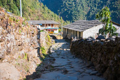 Small home on the way to Annapurna base camp Stock Images
