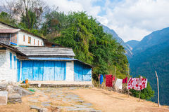 Small home on the way to Annapurna base camp Royalty Free Stock Image