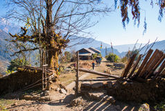 Small home on the way to Annapurna base camp Stock Photography