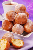 Small homemade donuts Royalty Free Stock Images