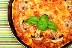 Small homemade pizza Royalty Free Stock Photo