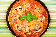 Small homemade pizza Royalty Free Stock Photos