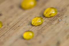 Small Honey drops Royalty Free Stock Images