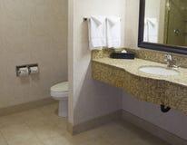 Small hotel bathroom Royalty Free Stock Photo