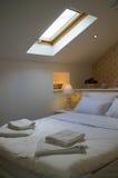 Small hotel bedroom Stock Photo