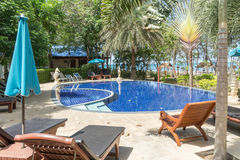 A small hotel swimming pool. In Thap Sakae, Thailand Stock Photos