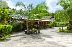 Small hotel in the Thai style. Stock Image