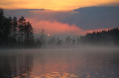 Small hour landscape. In thousands of lakes country, Finland Stock Images