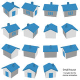 A small house with 15 angles Stock Photos