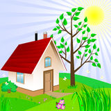 Small house. Stock Images