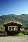 Small house. In mountains Norway Stock Image