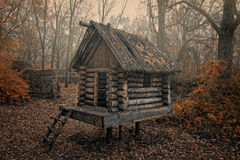 Small house. Small wood house in an autumn park Stock Image
