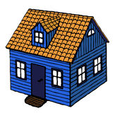 Small House. Small wooden house, inspired by Norwegian building tradition Stock Image