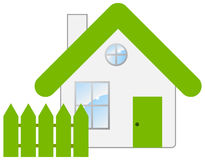 Small house. The small house with a fencing. Vector illustration Stock Image