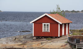 Small house in archipelago Stock Image