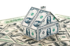 Small house from banknotes Royalty Free Stock Images