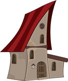 Small house cartoon Royalty Free Stock Photography