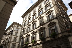 Small house in the center of Florence, Italy. Royalty Free Stock Photography