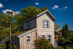 Small house in Chesapeake City, Maryland. Stock Images
