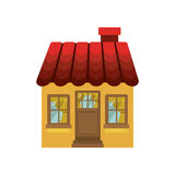 Small house with chimney and roof Stock Photo