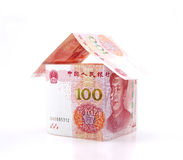 A small house constituted by banknotes Stock Photography
