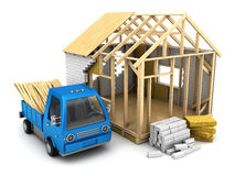 Small house construction Stock Images