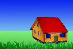 Small house in the countryside Stock Images