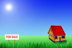 Small house in countryside for sale Stock Images