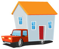 Small House On Delivery Truck Royalty Free Stock Photos