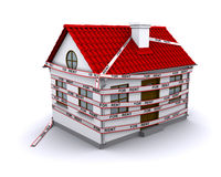 Small house enmeshed tape for rent Stock Photos