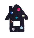 Small house from a fabric and buttons Stock Photo