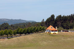 Small house on a farm. Royalty Free Stock Images