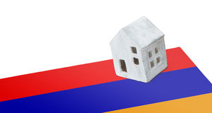 Small house on a flag - Armenia Stock Image